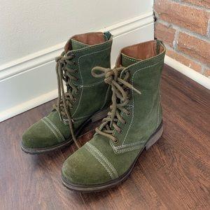 Steve Madden Olive Combat Boots